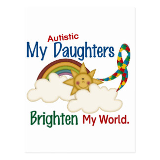 Autism BRIGHTEN MY WORLD 1 Daughters Post Cards