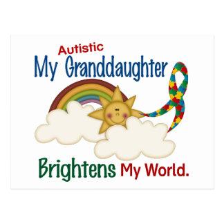 Autism BRIGHTENS MY WORLD 1 Granddaughter Postcards