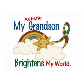 Autism BRIGHTENS MY WORLD 1 Grandson Post Cards
