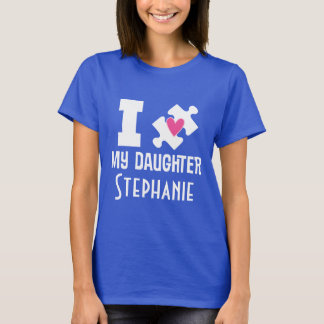 Autism Daughter Personalized Awareness T-shirt