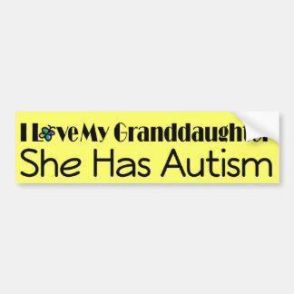Autism Granddaughter Support Autistic Spectrum Bumper Stickers
