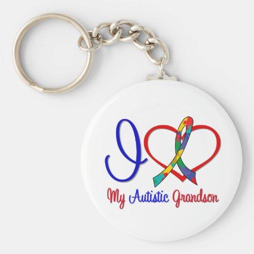 Autism I Love My Autistic Grandson Keychain
