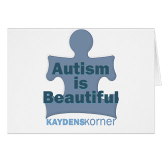 Autism is beautiful greeting card