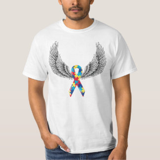 Autism ribbon and wings T-Shirt