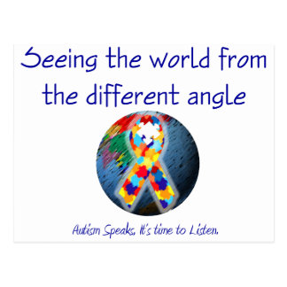Autism Seeing the world from the different angle Post Cards