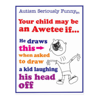 Autism Seriously Funny Merchandise Postcards