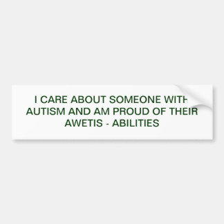 Autism Spectrum Bumper Sticker