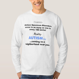 Autism Spectrum Disorders occur in as many as o... Shirts