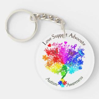 Autism Spectrum Tree Key Ring