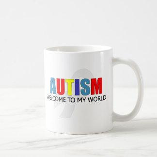 AUTISM WELCOME TO MY WORLD CLASSIC WHITE COFFEE MUG