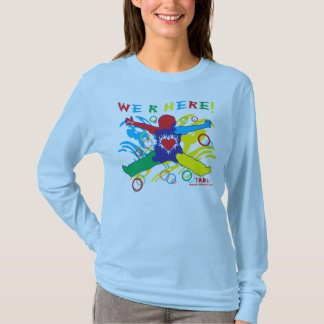 Autism woman long sleeve blue T-Shirt
