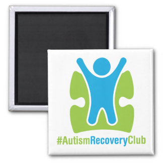 #AutismRecoveryClub Square Magnet