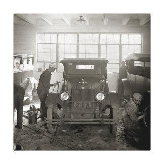 Auto Body Shop, 1926. Vintage Photo Stretched Canvas Prints