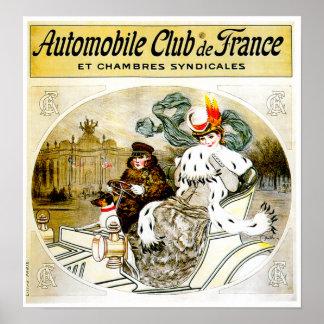 Auto Club ~ Vintage Automobile Advertisement Posters