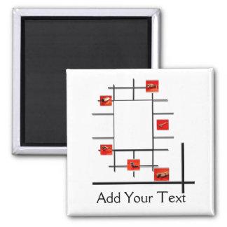 Auto Divergence Square Magnet
