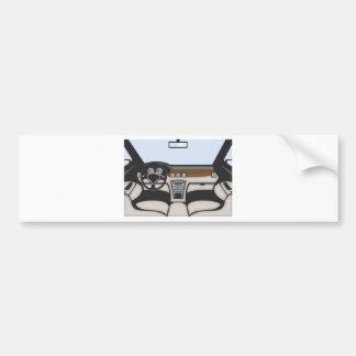 Auto interior vector bumper sticker