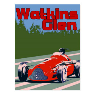 Auto Racer, Watkins Glen Postcard