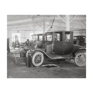 Auto Repair Garage, 1926. Vintage Photo Stretched Canvas Prints