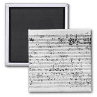 Autograph score sheet for the Trio mi bemol opus Magnet