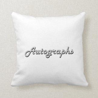 Autographs Classic Retro Design Cushion