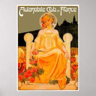 Automobile / Car Club ~ Vintage Auto Advertisement Poster