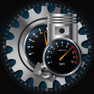 automotive wall clocks