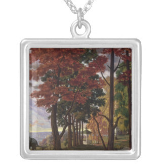 Autumn, 1918 silver plated necklace