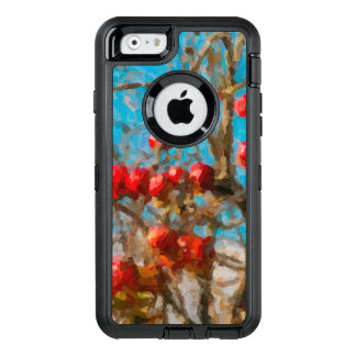 Autumn Apple Tree Painting OtterBox Defender iPhone Case