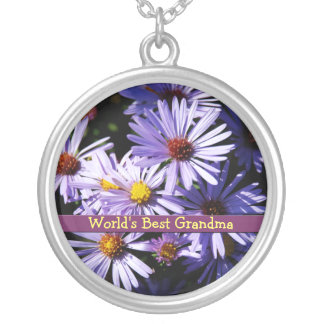 Autumn Asters Personalized Necklace