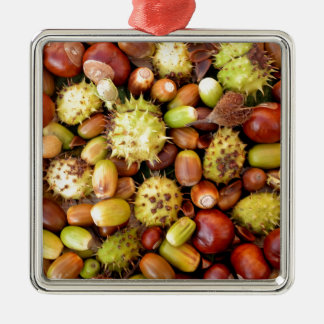 Autumn background christmas ornament