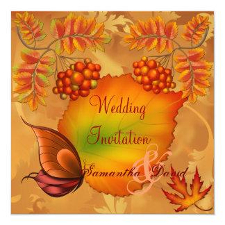 Autumn Berries Wedding Invitation Card