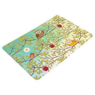 Autumn birds floor mat
