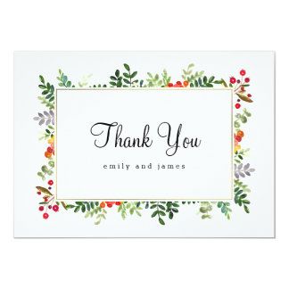 Autumn Blooms Fall Wedding Thank You Cards