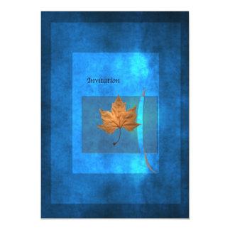 Autumn Blue Card