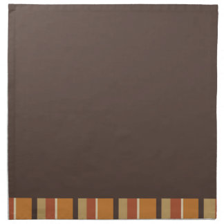 Autumn Brown and Striped Pumpkin Spice Colors Napkin