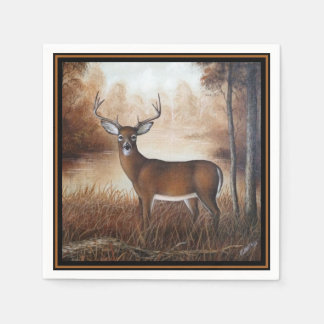 Autumn Buck Disposable Napkins