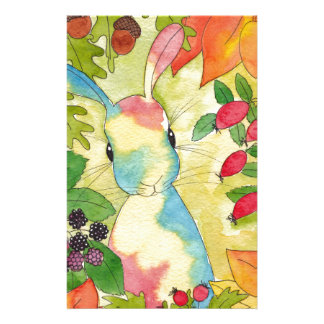 Autumn Bunny by Peppermint Art Custom Stationery