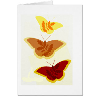 Autumn Butterfly Trio Blank Note Card