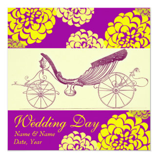 Autumn Carriage and Mums Wedding Invitations
