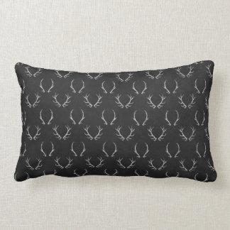 Autumn Chalkboard Antler Pattern Lumbar Pillow
