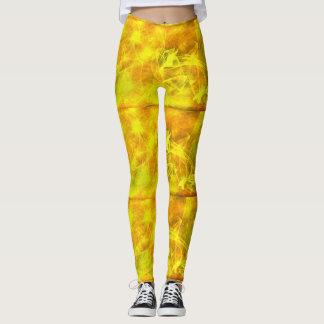 autumn cheerful yellow tones around leggings