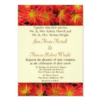 Autumn Chrysanthemum Wedding Invitation
