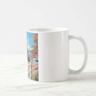 Autumn Church In Splendor New England Coffee Mug