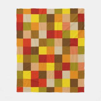 Autumn Color Map on Fleece Blanket