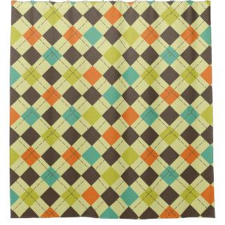 Autumn Colors Argyle Patterned Shower Curtain