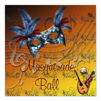Autumn Colors Masquerade Ball Invitation