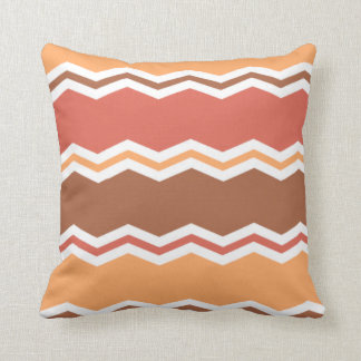 Autumn Colors; Red, Orange, Brown Chevron Cushion