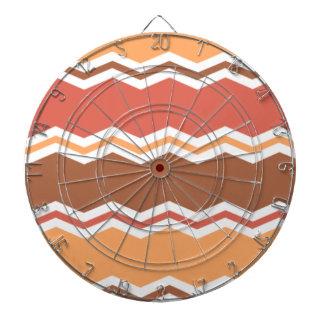 Autumn Colors; Red, Orange, Brown Chevron Dart Board