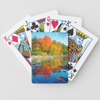 Autumn Colors reflecting in a stream in Vermont Bicycle Playing Cards