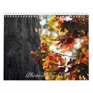 autumn colors wall calendar